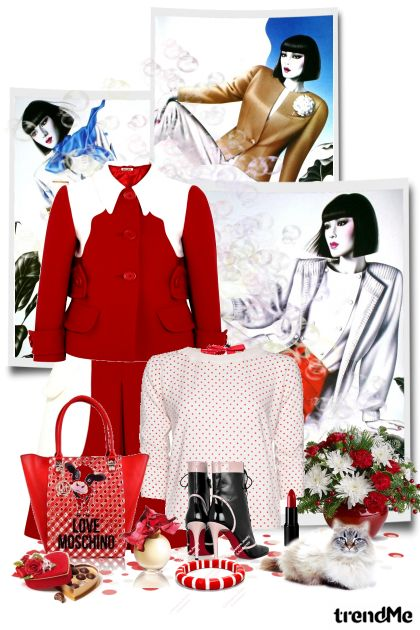 Red&White from collection Winter fashion by maca1974