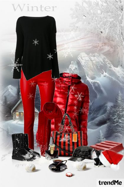 It's winter...let's go on snow... from collection Mladenački look by maca1974
