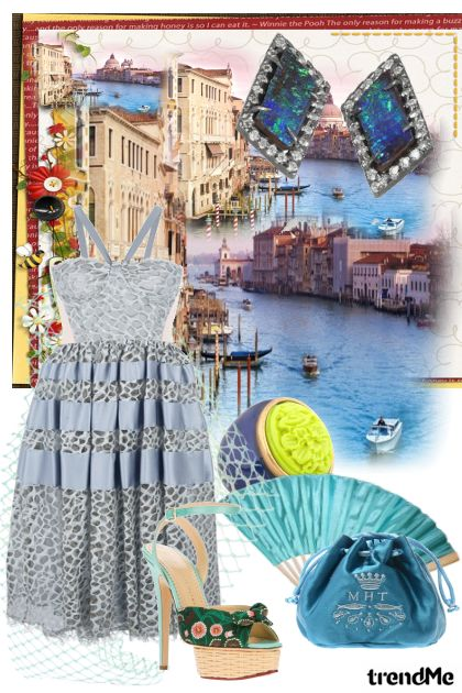 Venetia, city dream from collection The Blue Moment by  Performance  Maria de Fatima Moraes Rodrigues