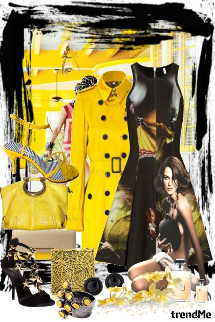 Yellow and Black! Day and Night! z kolekcji Fashion Style od  Performance  Maria de Fatima