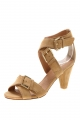 Clothes/footwear details Top End Nougat Sand Suede - Women Sandals (Sandals)
