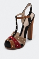 Clothes/footwear details Sachi Sophie Rocking Black/Tan/Red - Women Sandals (Sandals)