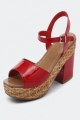 Clothes/footwear details Mollini Pringle Red - Women Sandals (Platforms)