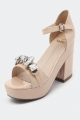 Clothes/footwear details Mollini Tandosi Neutrals  - Women Sandals (Platforms)