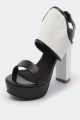 Clothes/footwear details Mollini Pratt Black / White - Women Sandals (Platforms)