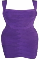 Clothes/footwear details Michelle' Purple Bust Boosting Bandage Dress (Dresses)
