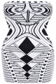 Clothes/footwear details Zahara' Black & White Strapless Bandage Dress (Dresses)