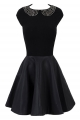 Clothes/footwear details Jordana' Black Leatherette Studded Skater Dress (Dresses)