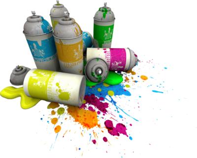 Баллончики с краской для граффити как сделать