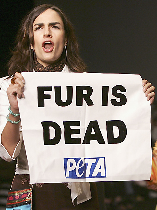 Nine of 10 people would not wear real fur
