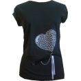 Talya Design by Sonja Jug - Black heart 4 - T-shirts - 150,00kn  ~ $25.46