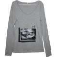 Talya Design by Sonja Jug - Classy old car - woman1 - Long sleeves t-shirts - 150,00kn  ~ $26.34