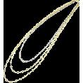 abiste - レースチェーン3連ロングネックレス/Gツートーン - Jewelry - ¥21,000  ~ $213.65