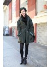 Green coat winter style - la isla bonita