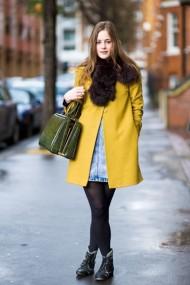 Yellow coat style