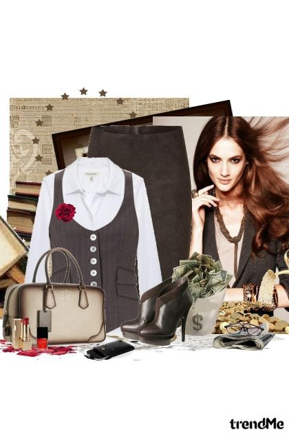 uspjeh mlade žene..- Fashion set