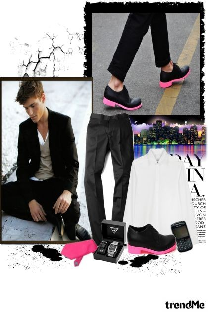 When a man dares to wear pink!- Fashion set