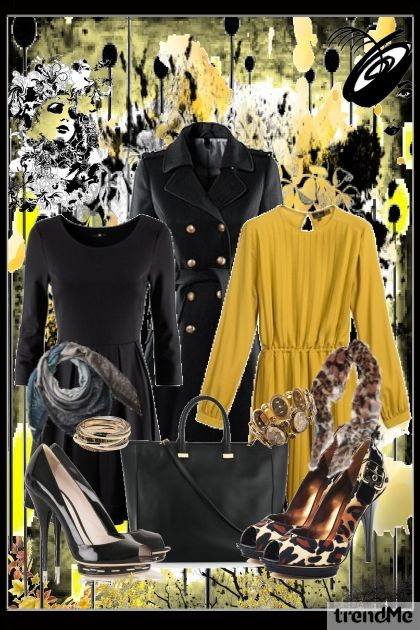 Black VS Yellow- Fashion set