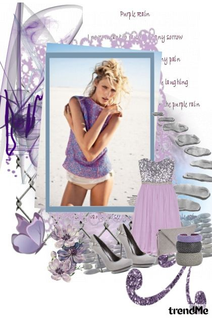 purple magic that enchants- Fashion set
