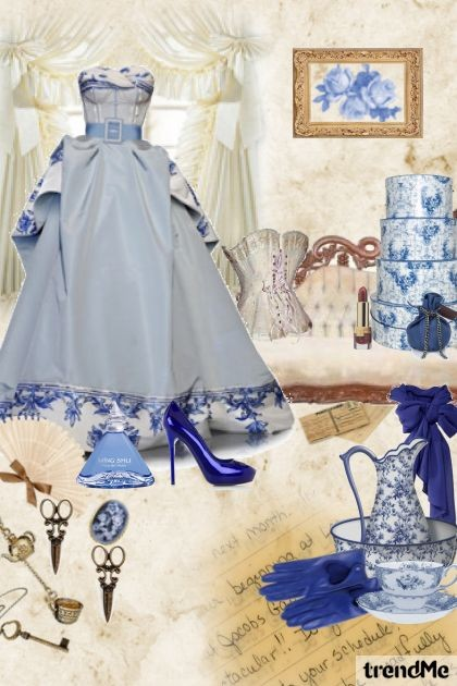 blue and blue- Fashion set