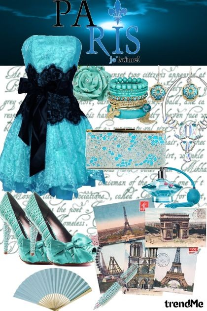 BLUE NIGHT IN PARIS- Combinazione di moda