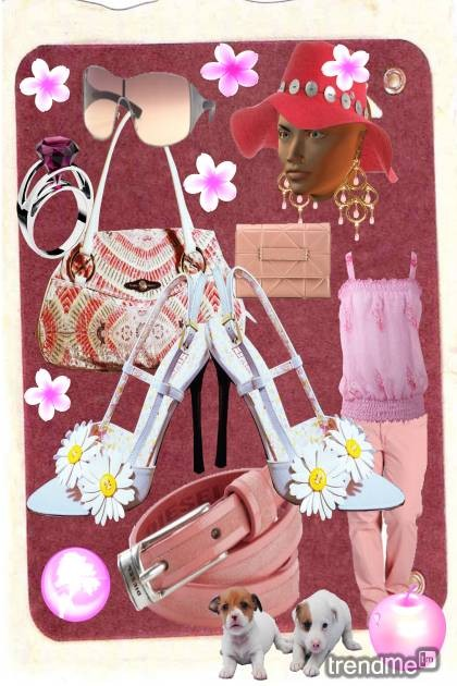 Pink summer- Fashion set