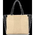 MG Collection - BARLIN Tan Desinger Inspired Faux Alligator Print Expandable Top Handle Shopper Tote Shoulder Bag - Hand bag - $29.99