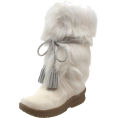 Bearpaw - BEARPAW Women&#039;s Shako Fur Boot White - Boots - &#36;149.99 