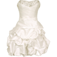 PacificPlex - Beaded Taffeta Party Mini Bubble Dress Prom Holiday Ivory - Dresses - $99.99