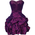 PacificPlex - Beaded Taffeta Party Mini Bubble Dress Prom Holiday Lilac - Dresses - $99.99