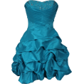 PacificPlex - Beaded Taffeta Party Mini Bubble Dress Prom Holiday Turquoise - Dresses - $99.99