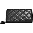 Buxton - Black Buxton Quilted Medium Slim Zip Clutch Wallet - Wallets - $37.99