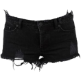 Maria Sanchez Bosser - Black Denim Cut-off - Shorts -