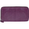 Buxton - Buxton Mary Jane Slim Zip Clutch Black - Clutch bags - $21.99