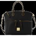 Amazon.com Hand bag -  Dooney & Bourke Cork Double Pocket Satchel, Black