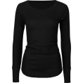 Full Tilt - FULL TILT Essential Womens Thermal Black - Long sleeves t-shirts - $9.09