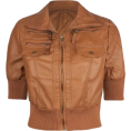 Full Tilt - FULL TILT Faux Leather Womens Jacket Camel - Jacket - coats - $24.99