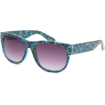 Full Tilt - FULL TILT Fresco Geo Sunglasses Blue Combo - Sunglasses - $9.99