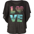 Full Tilt - FULL TILT Love Girls Circle Top Black - Top - $16.99