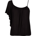 Full Tilt - FULL TILT One Shoulder Womens Top Black - Top - $14.97