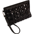 PacificPlex - Gem Studded Wristlet Clutch Zip-Top Detachable Chain Strap - Clutch bags - $27.99