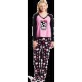 Hello Kitty Pidžame -  Hello Kitty Women's 3 Piece V-Neck Pajama Set with Slipper Black