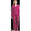 Hello Kitty Pidžame -  Hello Kitty Women's Print 2 Piece Notch Collar Top and Pant Pajama Set Pink