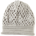Jessica Simpson - Jessica Simpson Women&#039;s Crochet Scrunchy Beanie Grey - Cap - &#36;24.50 