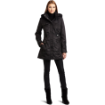 Jessica Simpson - Jessica Simpson Women's Hooded Faux Fur Trim Coat Black - Jacket - coats - $88.99
