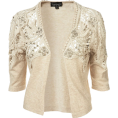 Elena Ekkah - Knitted Lace Trim Shrug - Cardigan -