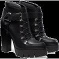 marija272 Čizme -  Leather high heeled platform