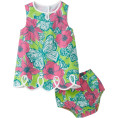 Lilly Pulitzer Dresses -  Lilly Pulitzer Baby-Girls Newborn Lilly Loopy Shift Dress New Green