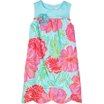 Lilly Pulitzer Dresses -  Lilly Pulitzer Girls 7-16 Little Lilly Scalloped Hem Shift Dress Shorely Blue Bellina