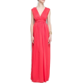 Mango Dresses -  Mango Women's V-neck Gown FUCSIA